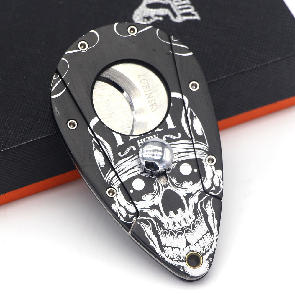 LUBINSKI Gadgets for Men Cigar Cutter Sharp Tobacco Cutting Metal Cigar Guillotine Package With Gift Box gadget