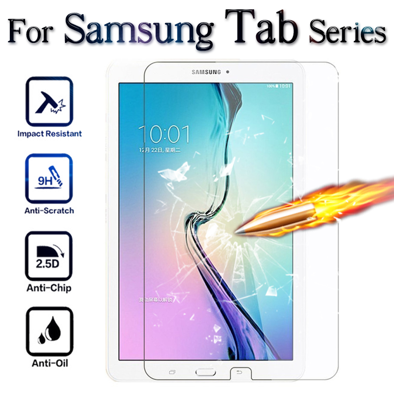 Protective Glass For Tablet 10.1 4 A 7 8 9.7 10 Inch Screen Protector On Galaxy Tab A6 2016 T550 10.1inch Tremp Glasses Cover