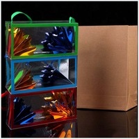 Large Size Super Delux Paper Bag Appearing Flower From Empty Box Stage Magic Tricks Dream Bag