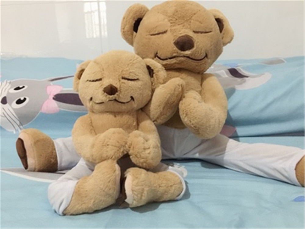464afd03cc ... Fancytrader Yoga Bear Plush Toy Creative Cute American Meddy Teddy  Stuffed Doll Soft Baby Toys Birthday ...