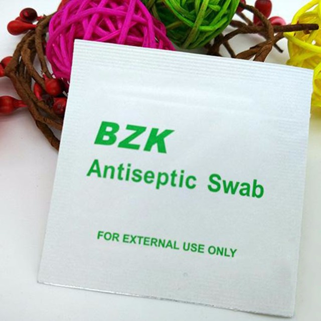 200pcs Antiseptic Wipes Good Swabs Wound Antiseptic Wipes Medical EMT First Aid For BZK