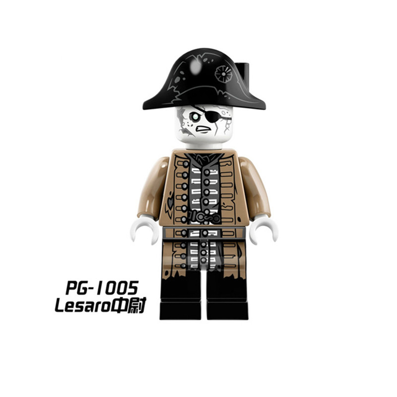 PG1005 Legoing figures Buildng Blocks Bricks Single Sale Lesaro Lieutenant Salazar Pirates of the Caribbean Toys for Children