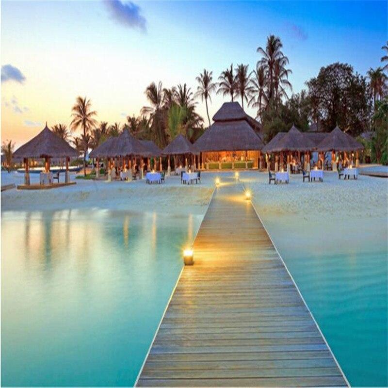 Фото обои высокого качества обои пляж декорации запас морской Мальдивы  большой настенной бумаги для гостиной 62b3998c90e
