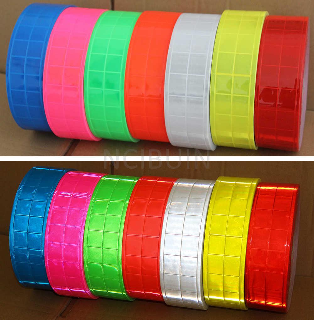 "Naaien PVC Gloss Reflecterende Tape Strip met Hoge Zichtbaarheid Voor Veiligheid Kleding Kleding Vest Breed: 50mm (2 "")"