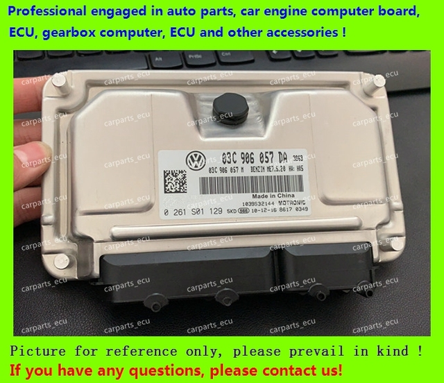 US $100 0 |For car engine computer board/VW Polo Acc ECU/Electronic Control  Unit/0261S05129 03C 906 057 DA/03C906057DD/0261S05132 -in Car PC from