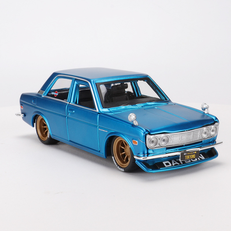 1:24 Diecast Alloy Sport Car Model Toy For Nissan 1971 DATSUN 510 GTR Collective Edition Collection Classic Car For Man With Box