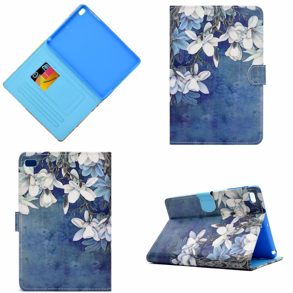 For iPad Mini 2 3 4 Case, Colorful Patterns Smart Cover For Funda iPad Mini 1 2 3 Flip Case Cover A1490 Sleep/Wake Pad mini Case mosunx mecall tech new butterfly patterns flip stand case cover for ipad mini 1 2 3 retina