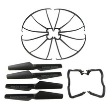 Lightweight Drone Accessories 4 pcs Blade/Tripod/Protection ring Main Propeller Replacement Spare Parts for Syma X5 X5C