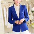 2016 women's spring and autumn short design slim blazer women suit jacket solid color long-sleeve plus size women top coat