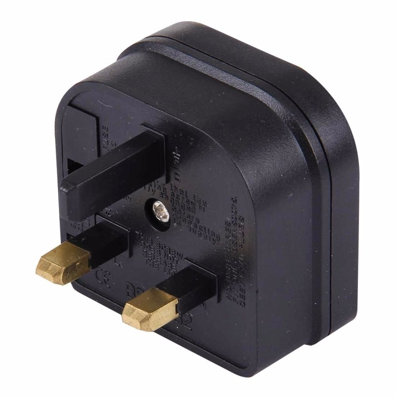 5PCS Portable EU Plug to UK Plug Adapter Power Socket Travel Converter with Fuse