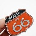 Высокое Качество Америки США ROUTE 66 Дорога Герба Знак 3D металла Стикер Тела Автомобиля Компьютер Ipad Стены Кабинета Наклейки Стайлинга Автомобилей
