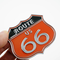 High Quality America US the ROUTE 66 Road Emblem Badge 3D Metal Sticker Car Body Computer Ipad Wall Cabinet Stickers Car Styling