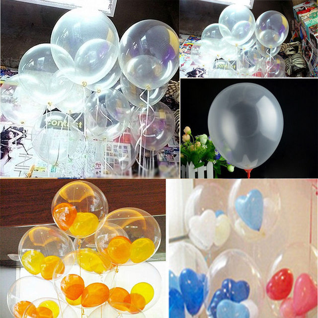 10 Inches Pearl 20pcs Transparent Latex Balloons Home Bridal Birthday Party Decor Childen Day Summer Toy