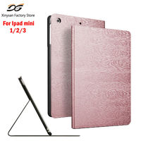 Case For Ipad Mini 1 2 3 Tri Fold Smart Cover Ultra Slim Wooden PU Leather