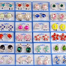 Clearance Jewelry Bijoux Femme Cute Costume Earring 20Pairs/Lot Pendientes Mix Lot Wholesale Fashion Women Stud Earrings Gifts