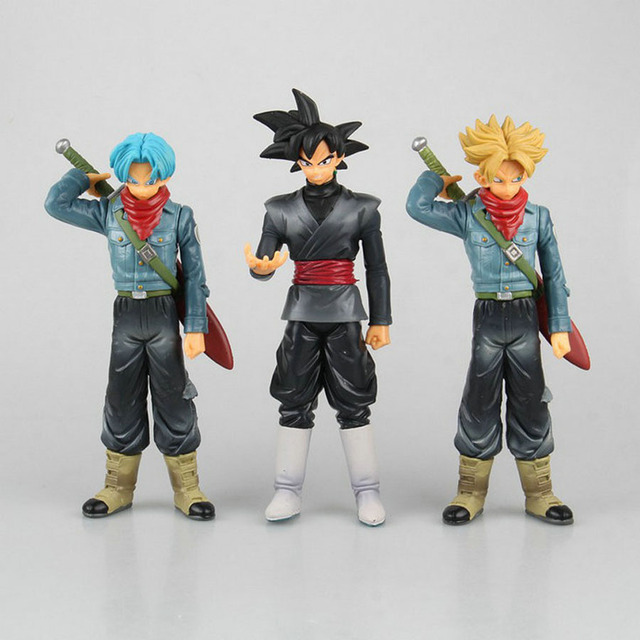 Dragon Ball Z Super Saiyan Super Warriors Black Goku Trunks