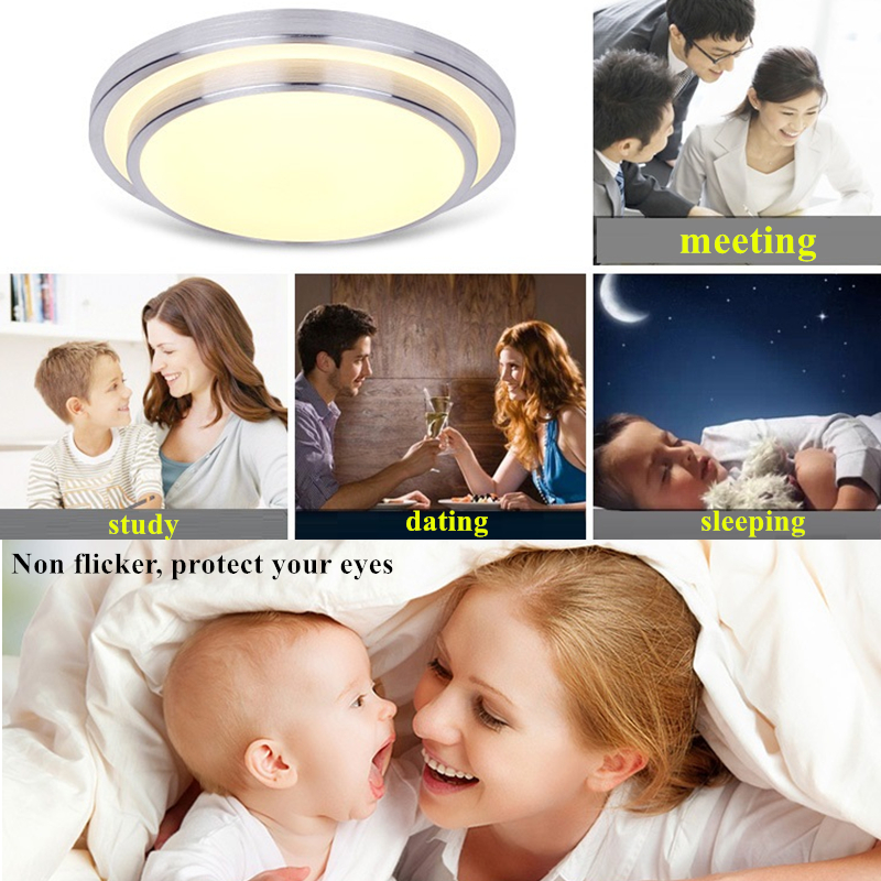 Em Superfície de Alto brilho Branco Quente + Branco Frio lâmpada