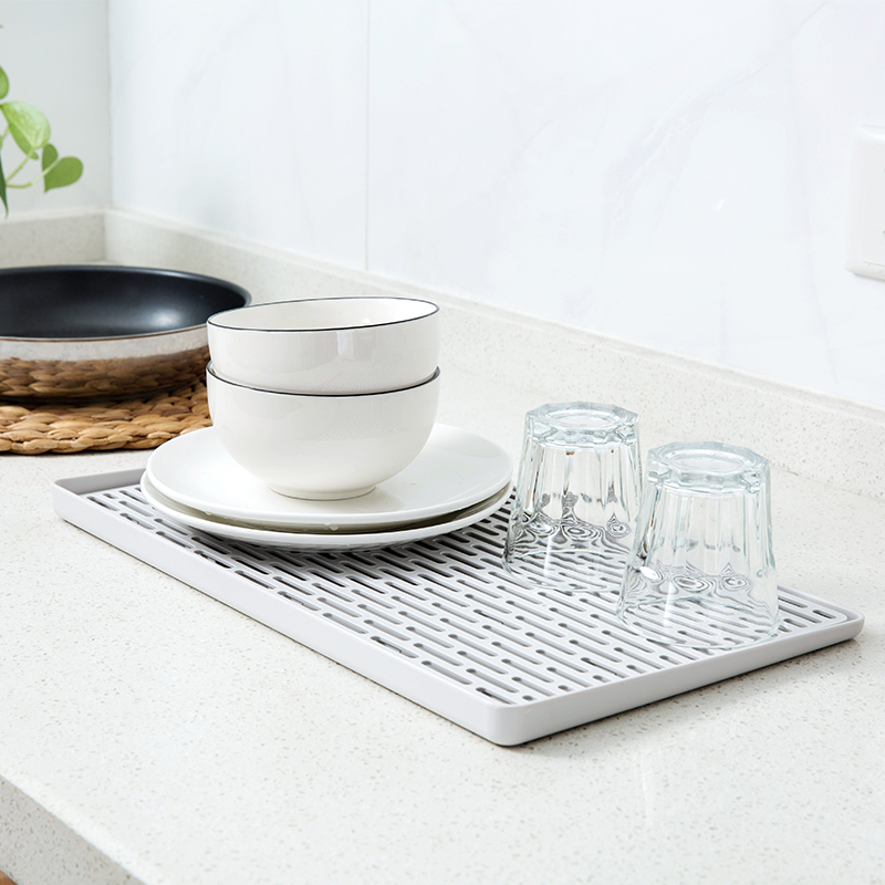 kitchen dish drying mat safe shoes countertop sink rack with swivel spout drain and dry wine glasses bowls storage
