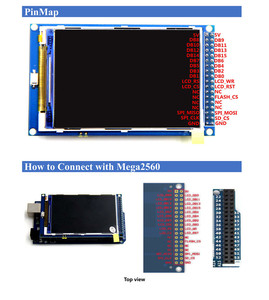 Image 3 - Free shipping! 3.5 inch TFT LCD screen module Ultra HD 320X480 for Arduino + MEGA 2560 R3 Board with usb cable