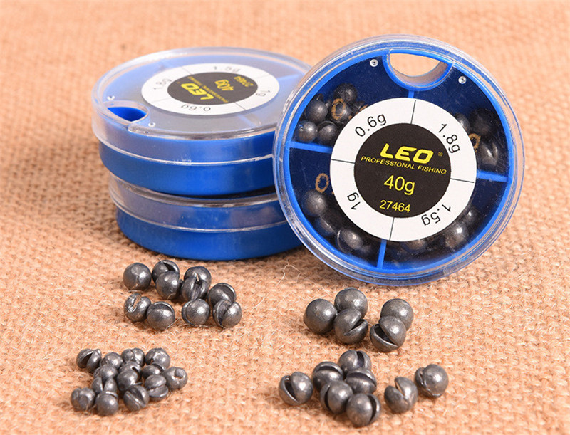 LEO 4 Sizes Mini Round Fishing Lead Weights Set Split Lead Fishing Sinkers Weight Fishing Accessories 0.6g 1g 1.5g 1 (1)