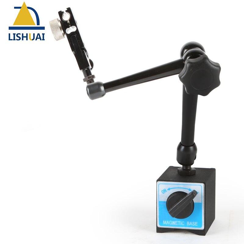 LISHUAI magnetico del basamento per digital dial indicator gauge Pieno Regolabile Dial Gauge base magnetica del supporto del basamento WCE-D