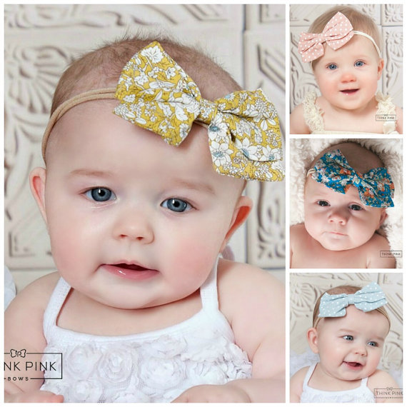 8PCS lot Cute Baby Girls Headwraps Fabric Knot Bow Headband Children  Infants DIY Headwear Turban Girl Hair Accessories A141 8ce886fec008