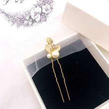 wedding hair accessories pearl pin of u-shaped clip jewelry spinki hairpins with pearls  tiara H008