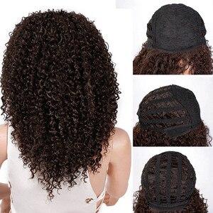 Image 5 - Волосы AISI, 16 дюймов, темно коричневые, афро, курчавые, синтетический парик для женщин, термостойкие, африканские, пушистые волосы, парики