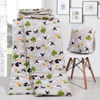 2-em-1 Multifunções Almofada Cobertor Colcha de Ar Condicionado Almofada Cobertor Travesseiro Algodão Travesseiro Almofada Carro de Volta para Casa & Car