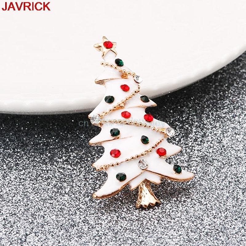 Fashion Vintage Christmas Tree Brooch Rhinestone Pin Jewelry Gift Charm Women