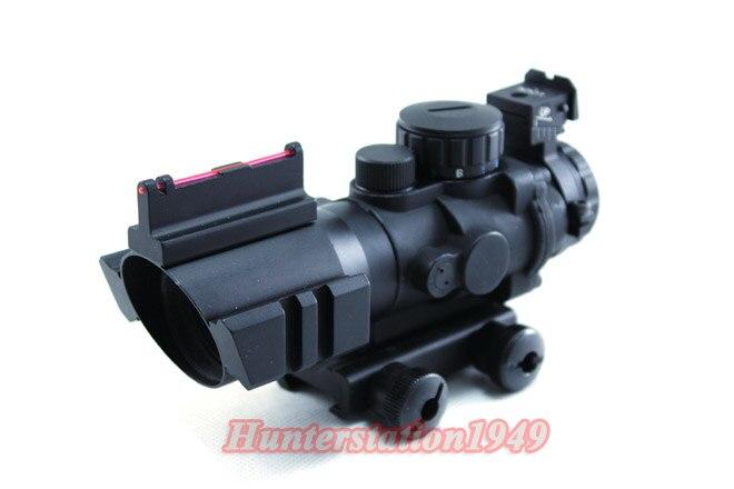 HQ SNIPER 4X32 RGB Tri-Illuminated Compact Scope Green Fiber Optics Sight Weaver sniper elite v2 цифровая версия