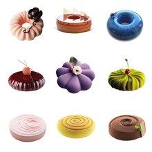 Силиконовые круговой кекса формы для выпечки украшения инструменты для десерта шоколадный мусс Кондитерская форма хлеба выпечки интимные аксессуары