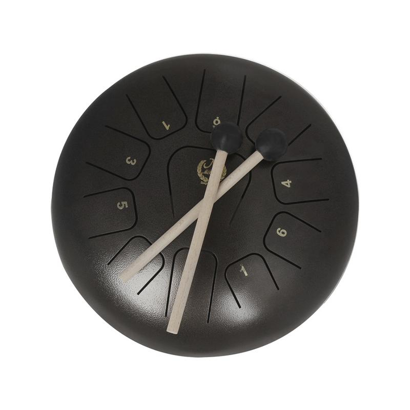 IRIN 12 inch 11 tone empty spirit drum, worry-free drum steel tongue drum, Xuankong drum, hand drum 14 inch double tone afanti music snare drum sna 1234