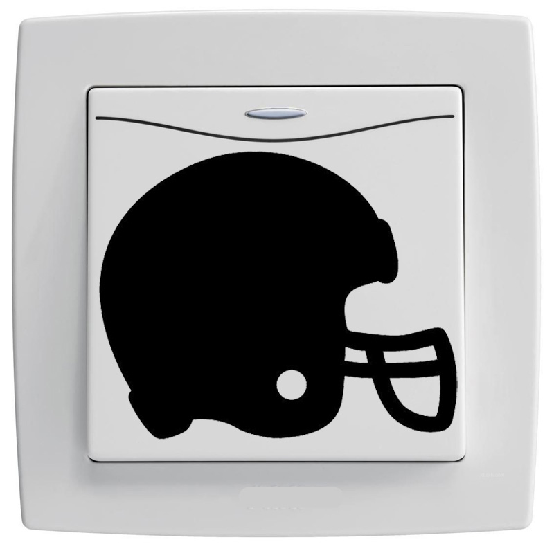 Outline Football Helmet Details - Lights,Switches, Stickers 7SS0008