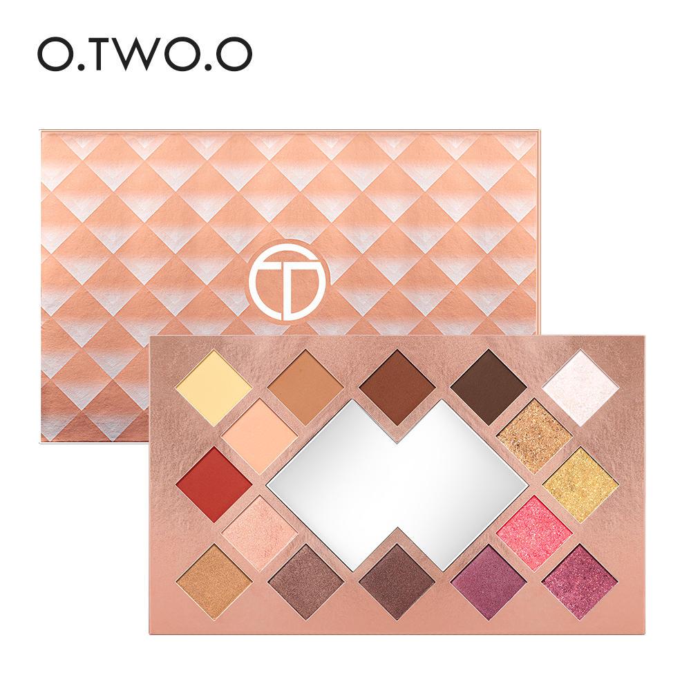 O.TWO.O Eyeshadow Palette 16 Color Matte Shimmer High Pigmented Eye Shadow Powder Makeup Long Lasting Glitter Eyes Cosmetics