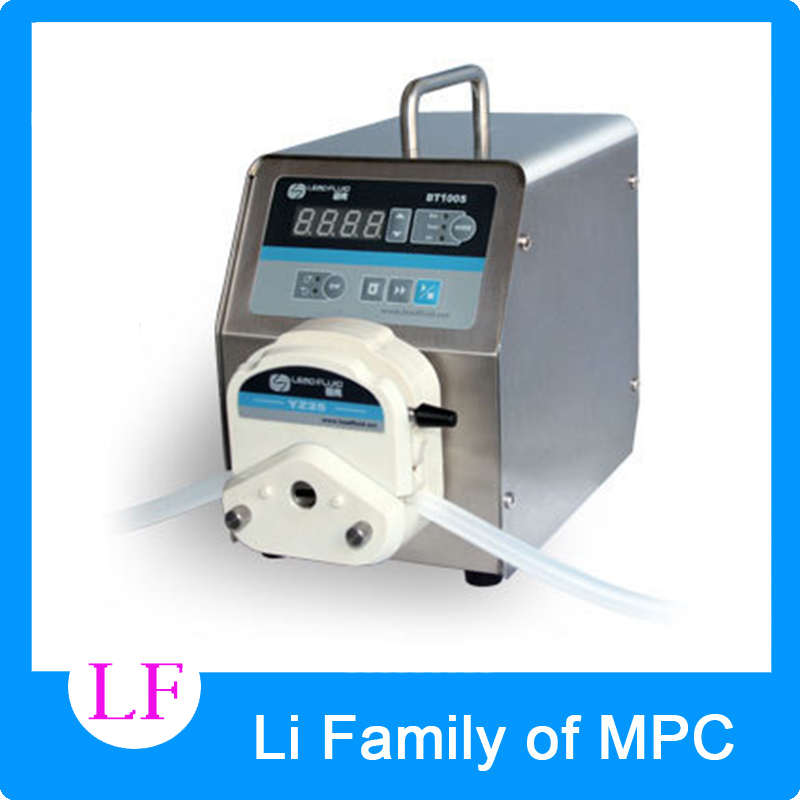 led digital display low flow Precise variable speed peristaltic pump for water pumps fluid BT100S / YZ15