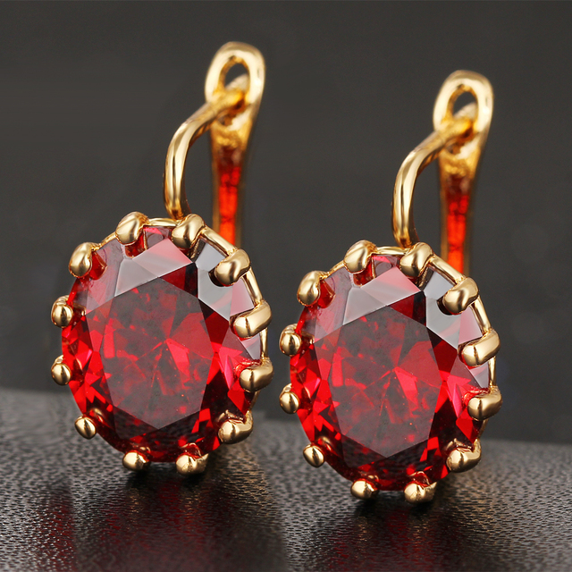 Colorful Crystal Flower Stud Earrings