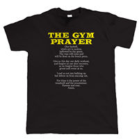 Party T Shirts Short Gift The Gymer Prayer Weight Lifting Body Building Traininger O Neck Mens
