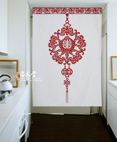 Nice Curtains Traditional Chinese style cotton cloth curtain bedroom door curtain Durable