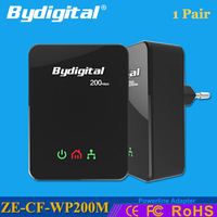Bydigital Powerline Ethernet Adapter 200Mbps 2 4GHz Netword Extender Mini Plc Wifi Homeplug With EU AU