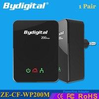 Bydigital Powerline Ethernet Adapter 200Mbps 2 4GHz Netword Extender Mini Plc Wifi Homeplug With EU AU