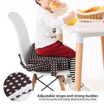 Chrylren aumentou a almofada da cadeira macia do bebê crianças jantar almofada ajustável removível cadeira de reforço almofada da cadeira do pram