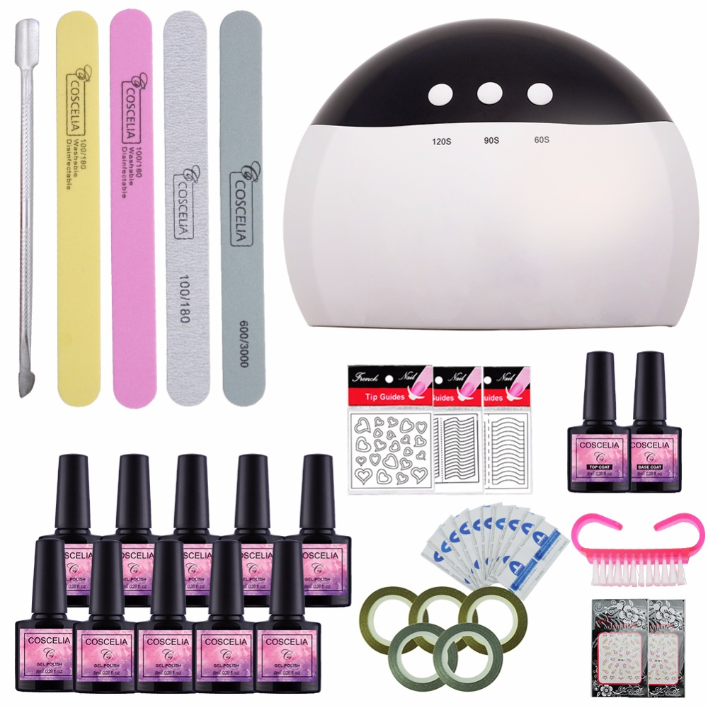 Manicure Set For Nail Gel 8ml Nail Polish Set Nail Art Tools For Manicure Semi Permanent UV Gel All For Manicure Pedicure Sets