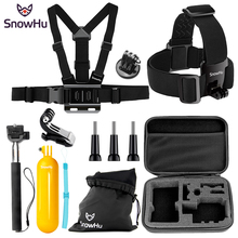 SnowHu for Go Pro Accessories 360-Degree Rotation Clip For GoPro Hero 7 6 5 4 3  for Xiaomi yi 4K Action camera GS81 цена 2017
