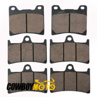 Motorcycle 6 Pcs Semi Metallic Front Rear Disc Brake Pads For YAMAHA XJR 1300 XJR1300 SP