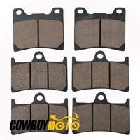 Motorcycle 6 Pcs Semi Metallic Front Rear Disc Brake Pads For YAMAHA XJR 1300 XJR1300 SP