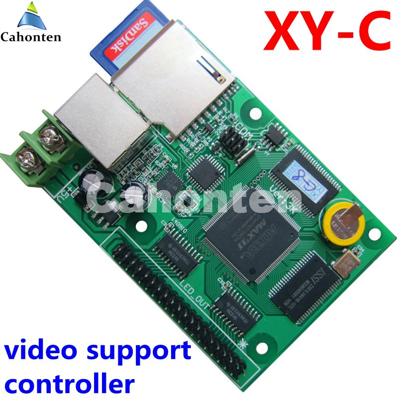 XY-C SD asynchronous + network synchronous full color video led control card 320*128,256*160pixels for rgb display module