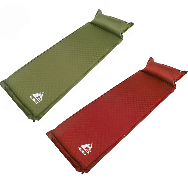 2Pcs 1lot HEWOLF outdoor 188 65 5cm single automatic inflatable cushion pad thickening inflatable bed mattress
