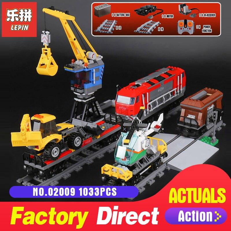 Educativos 02009, 1033 Piezas de serie RC pesado camión tren 60098 modelo de construcción juguetes de construcción de bloques de juguete, muñeca plástica, regalo de Navidad