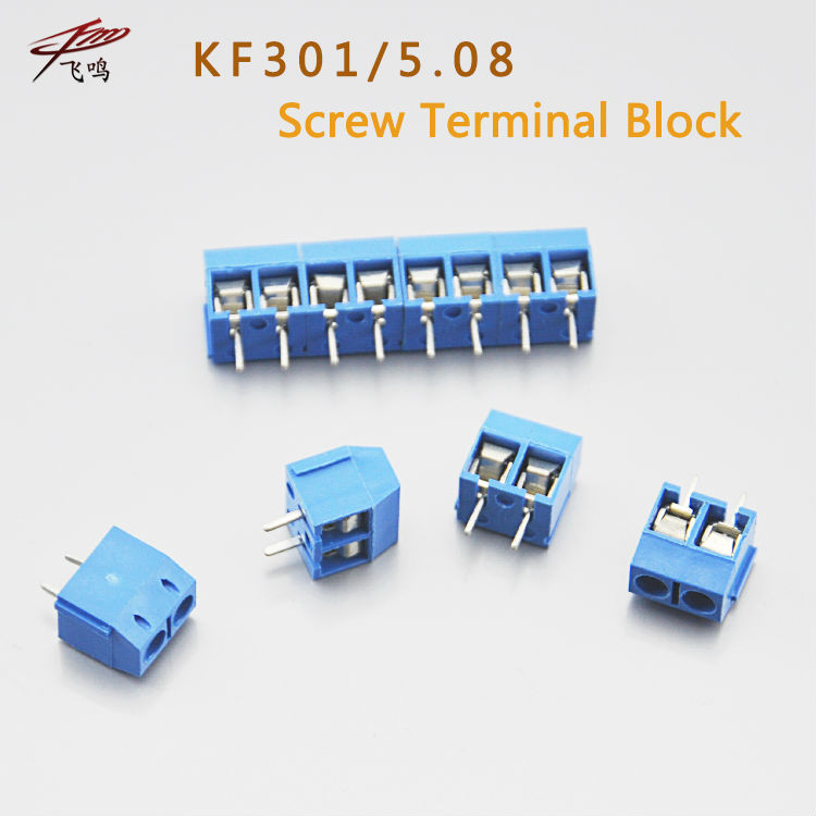 20 PCS KF301-5.0-2P KF301-3P Pitch 5.0mm KF301-2P Straight Pin PCB 2 Pin 3 Pin Screw Terminal Block Connector